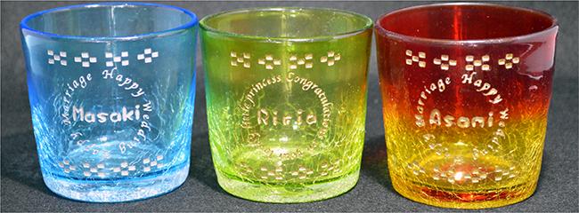 グラス彫刻
