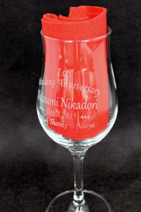 ワイングラス彫刻