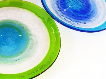 琉球ガラスプレート彫刻