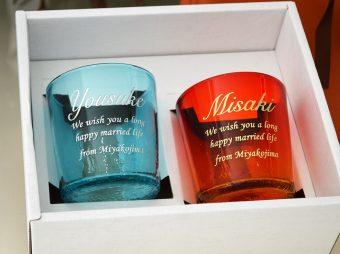 結婚祝い ペア琉球グラス