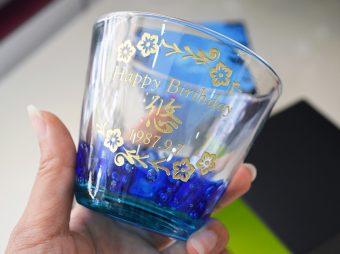 バースデーグラス彫刻