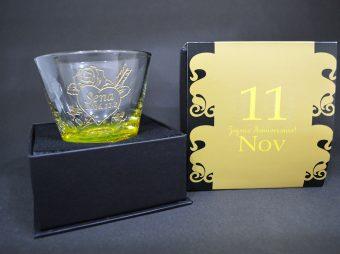 11月 バースデーグラス彫刻