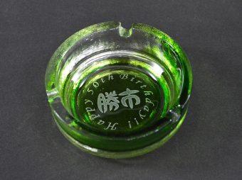 琉球ガラス灰皿彫刻