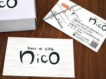 Hair×Life nico様 ショップカード