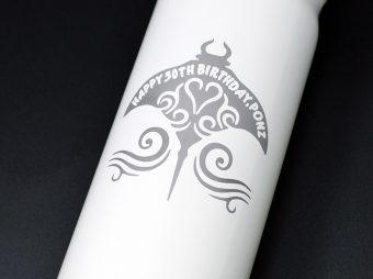 ステンレスボトル彫刻