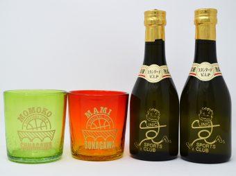 ハーフボトル&琉球グラス彫刻